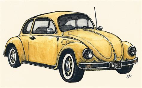 volkswagen bug drawing vw beetle original drawing