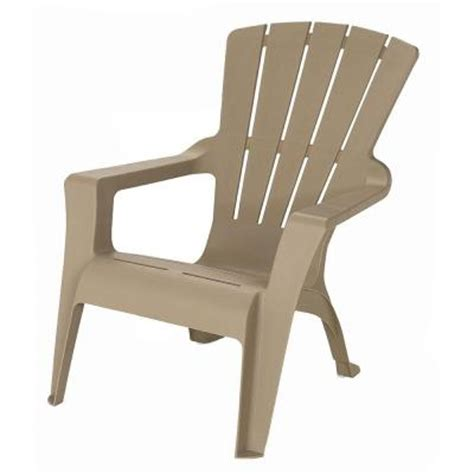 Plastic Patio Chairs Home Depot Us Leisure Adirondack Patio Chair 161085 The Home Depot