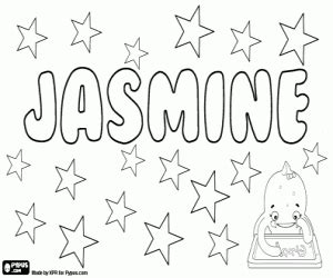 coloring pages of the name jasmine girl names with j coloring pages printable games