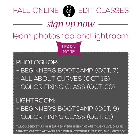 Beginners Class For Photoshop Elements The Mad Cropper 4 by Back To School With Mcp Register For Fall Editing Classes