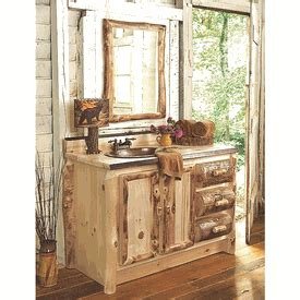 Aspen Bathroom Furniture Aspen Log Bathroom Furniture Collection