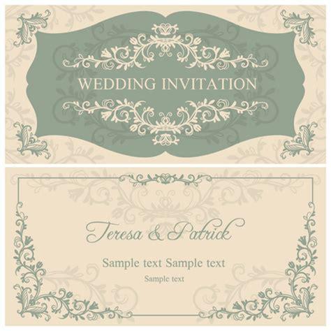 decorative card design elegant floral decorative wedding invitation vector cards