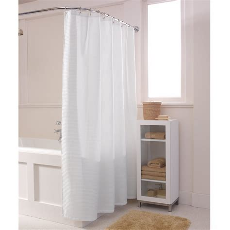 solid white shower curtain maytex waffle solid white fabric shower curtain altmeyer