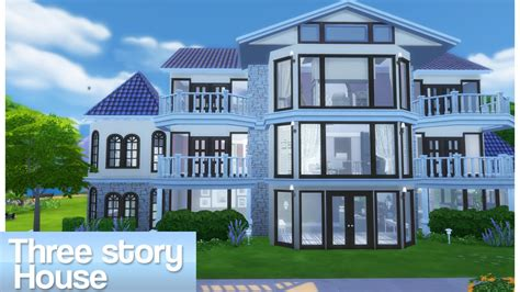 story home sims 4 three story house youtube