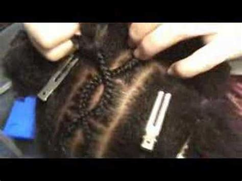 criss cross cornrows part  youtube