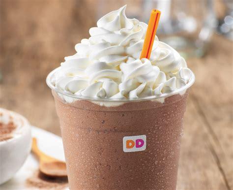 frozen hot chocolate vs chocolate milk dunkin donuts frozen coffee drink nutrition blog dandk