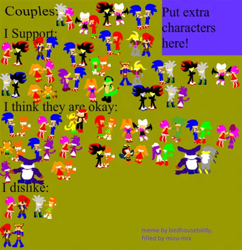 Sonic Couples Meme - meme sonic couples by lucas420 on deviantart
