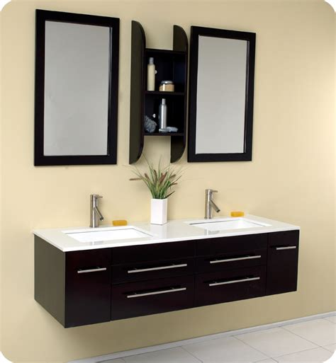 Fresca Bellezza Espresso Modern Double Sink Bathroom Modern Bathroom Sink And Vanity
