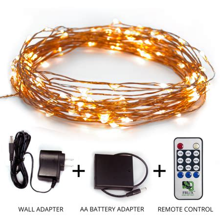 battery adapter for christmas lights string lights 39ft led copper wire all season decor lighting