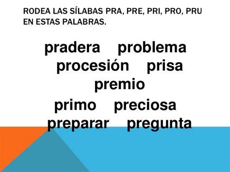 Imagenes Con Palabras Pra Pre Pri Pro Pru | ya estoy en primero lectoescritura pr