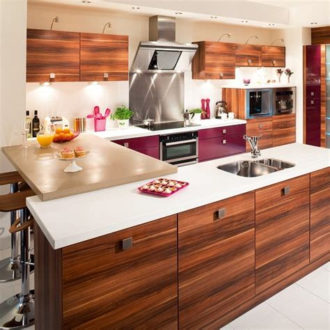 betta bedrooms and kitchens berry and wood effect kitchen from betta living mixed