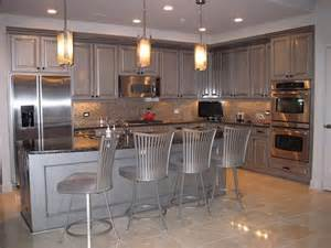Metallic Kitchen Cabinets Modern Masters Silver Metallic Paint On Kitchen Cabinets With An Aging Glaze By Artist Krista