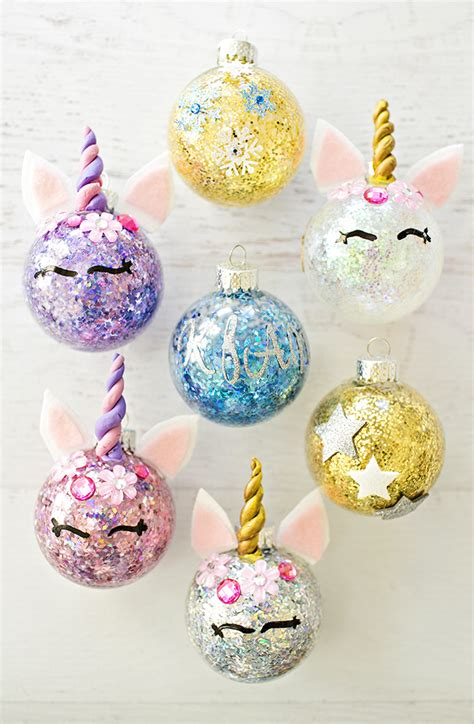 Flowers For Home Decoration by Hello Wonderful Diy Glitter Unicorn Ornaments