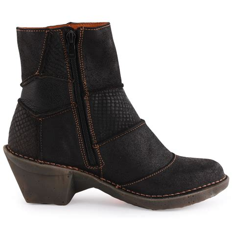oteiza 663 womens leather black ankle boots new shoes