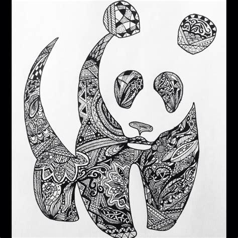 panda mandala tattoo panda zentangle artsy pinterest pandas and zentangle