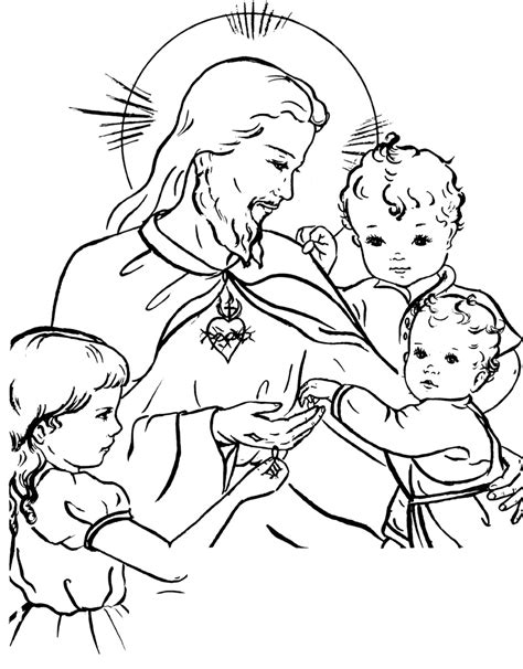 jesus heart coloring page sacred heart of jesus coloring page free coloring pages