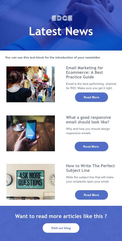responsive newsletter templates email marketing