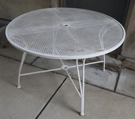 Circular Patio Table by Circular Wrought Iron Patio Table Made By Lyon Shaw