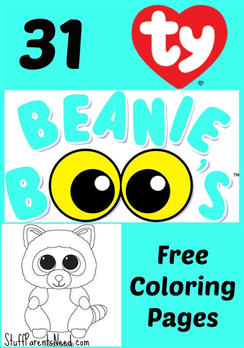 coloring boo free beanie boos coloring pages