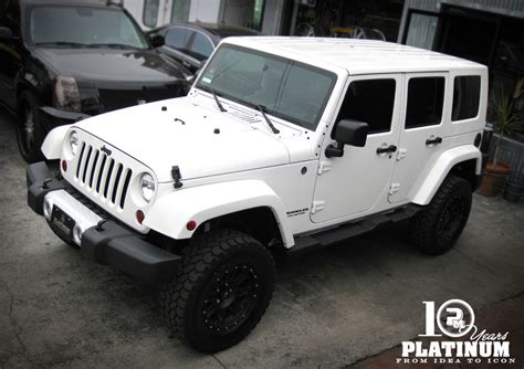 white jeep white jeep unlimited x platinum motorsport