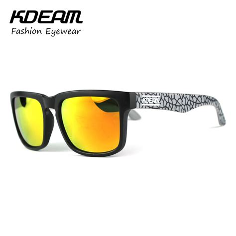 Original Kacamata Sunglasses Alloy Polarized Coating Limited kdeam polarized sport sunglasses reflective coating square sun glasses brand designer