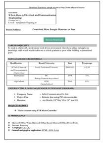 Job Resume Format Word File by Resume Format Download In Ms Word Download My Resume In Ms