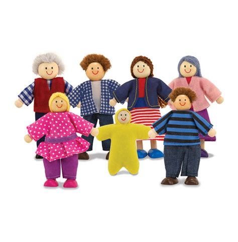wooden dolls house family wooden doll family