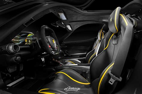 ferrari yellow interior unboxing a laferrari