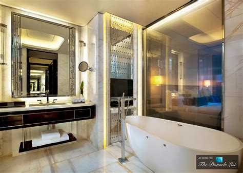 dinner in the sky bathroom st regis luxury hotel shenzhen china deluxe bathroom