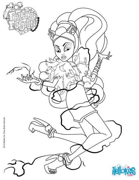 monster high avea trotter coloring pages monster high freaky fusion clawvenus coloring pages