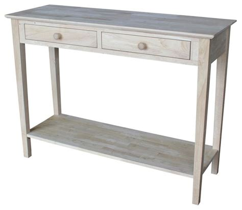 storage sofa table console table with storage drawers contemporary