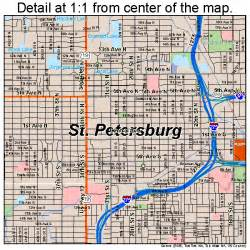 st petersburg florida map 1263000