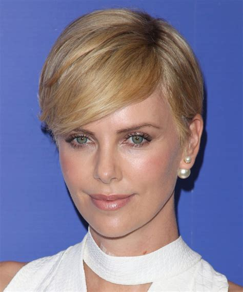 bobs cut awayfrom face charlize theron latest haircut haircuts models ideas