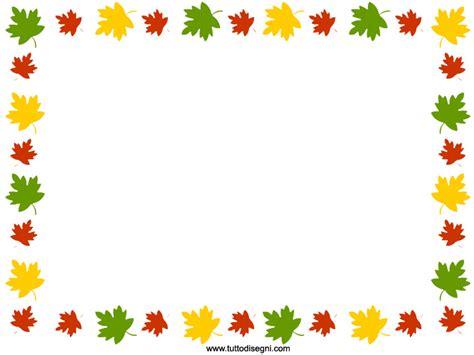 cornice autunno cornicetta con foglie d autunno tuttodisegni