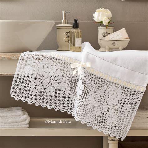 tende di lino e uncinetto lino e schema per asciugamano con uncinetto filet