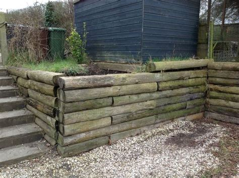 Railway Sleepers Retaining Wall by Pin By Jeri Landers On Railroad Sleepers As Retaining