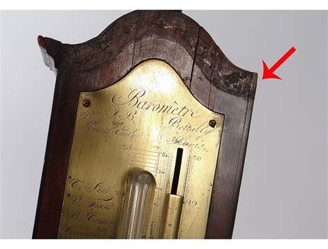 signed mahogany barometer bettaly system torricelli paris
