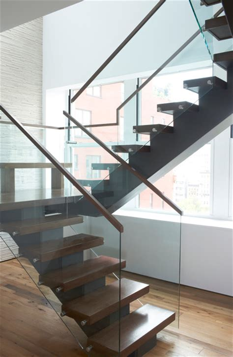 office stairs design tribeca duplex contemporary staircase new york by