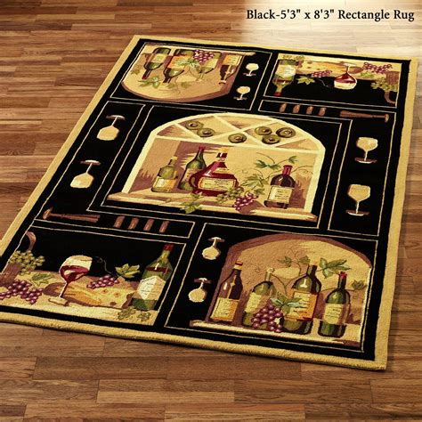 Wine Kitchen Rug by Wine Bottle Area Rugs
