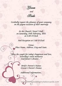 wedding card exles sle wedding card invitation wedding gallery wedding invitation