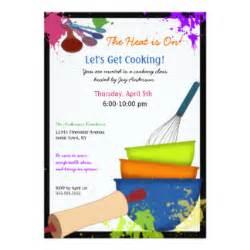 cooking class invitations announcements zazzle