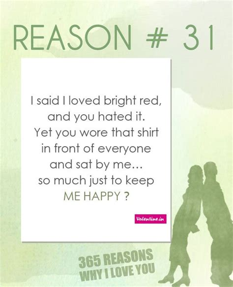 7 Reasons I Can Enjoy In The 30s by Reasons Why I You 31 365 Quotes For Him