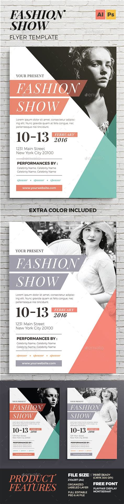fashion show flyer the reader texts and graphics