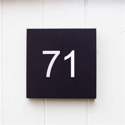 house number steel house number plate by kelly contemporary notonthehighstreet com