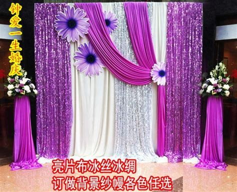 Curtain flower background shaman wedding paillette cloth