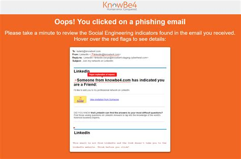 Social Engineering Indicators Sei Knowledge Base Phishing Awareness Email Template