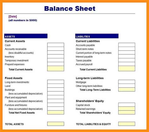 Financial Balance Sheet Template 11 simple balance sheet exle abstract sle