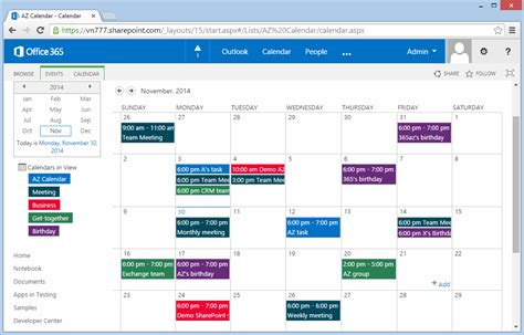 color coding sharepoint calendar events new style for
