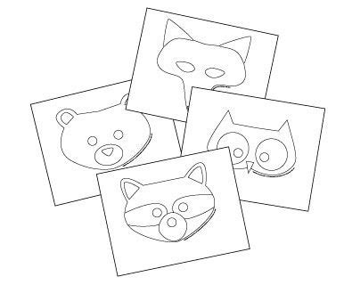 woodland creature masks animal masks forest animal crafts printable animal masks animal