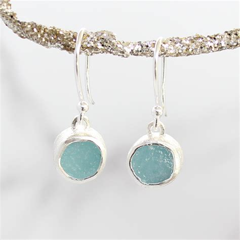 Handmade Sterling Silver Jewellery - unique handmade earrings set with cut
